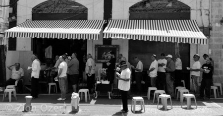 """Noontime prayer services, Flea market, Yafo, Tel Aviv"